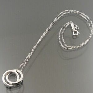 Tiffany and Co. Interlocking Ring Necklace